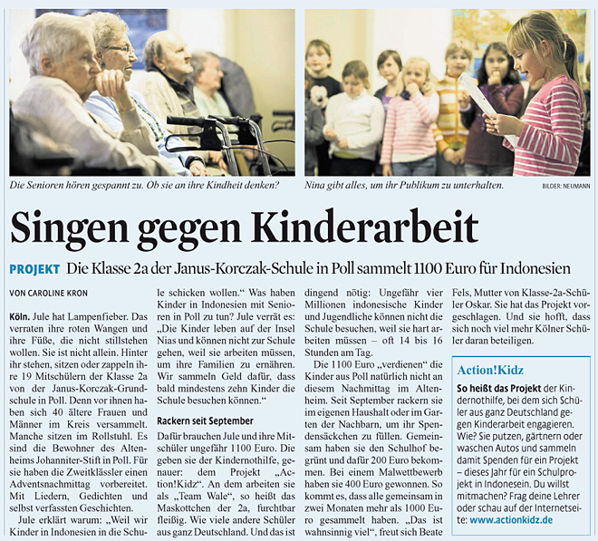 Kölner Stadt-Anzeiger, 6.10.2012
